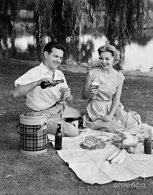 Photograph - Couple Having A Summer Picnic, C.1950s by H. Armstrong Roberts/ClassicStock