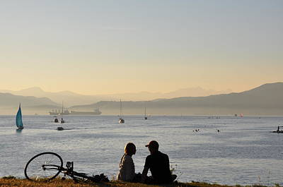 Photograph - Couple In English Bay by Caroline Reyes-Loughrey
