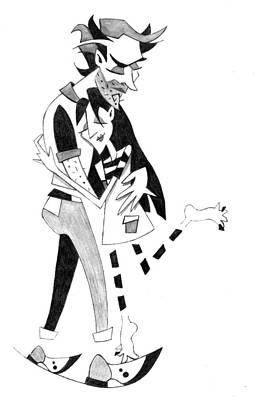 Couple In Love - Pencil Drawing Illustration Original