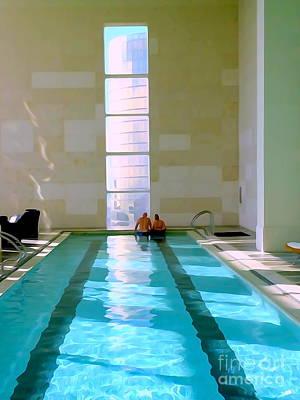 Digital Art - Couple In Pool by Ed Weidman