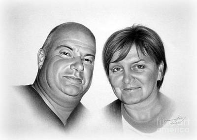 Portraits Drawing - Couple by Miro Gradinscak