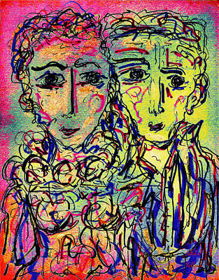 Mixed Media - Couple by Natalie Holland