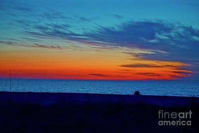 Photograph - Couple On Beach Past Sundown by David Arment