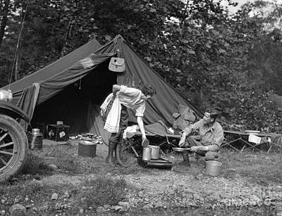 Photograph - Couple Out Camping, C.1920s by H Armstrong Roberts Classic Stock