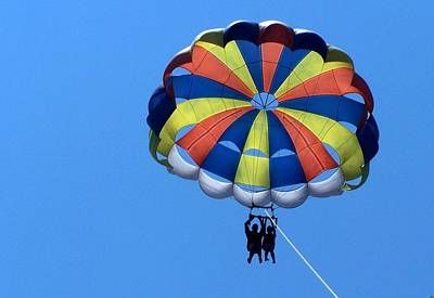 Photograph - Couple Parasailing by Sheila Brown