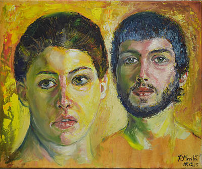 Painting - Couple by Raija Merila