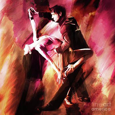 Couple Tango Art Art Print by Gull G