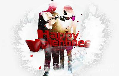 Couple Mixed Media - Couple Valentine's Day by LDS Dya
