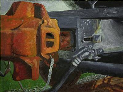 Painting - Coupler On Train by Martha Ressler