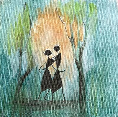 Painting - Couples Delight by Chintaman Rudra