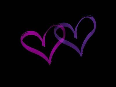Digital Art - Couples Hearts by Bill Posner