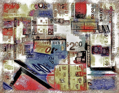 Economy Mixed Media - Coupon Collage - Texture by Steve Ohlsen