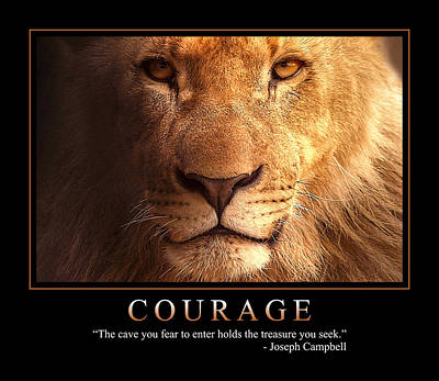 Brave Mixed Media - Courage 1 by Dave Lee