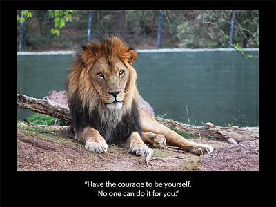 Mixed Media Royalty Free Images - Courage Royalty-Free Image by Blake Wesley