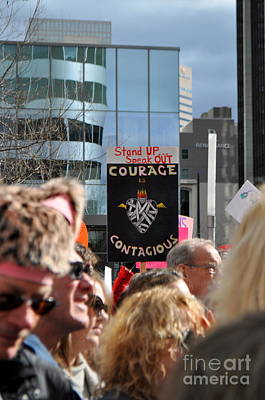Photograph - Courage Is Contagious by Anjanette Douglas