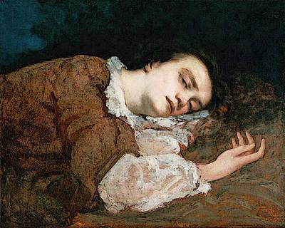 Courbet Gustave Study For Les Demoiselles Des Bords De La Seine  Ete  Art Print