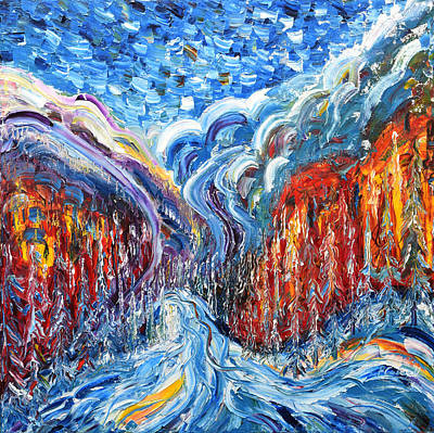 Painting - Courmayeur And Mt Blanc by Pete Caswell