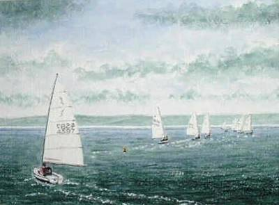 Painting - Course To Steer - Storm Approaching by Peter Farrow