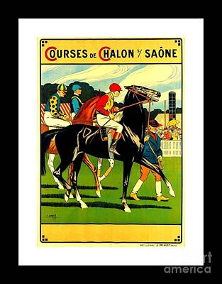 Courses De Chalon French Horse Racing 1911 II Art Print