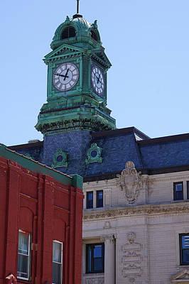 Photograph - Court House Clock Tower by Kyle West