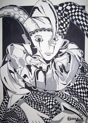Tears Drawing - Court Jester by Tomislav Neely-Turkalj