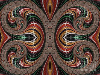 Digital Art - Court Jesters At Play Fractal Abstract by Rose Santuci-Sofranko