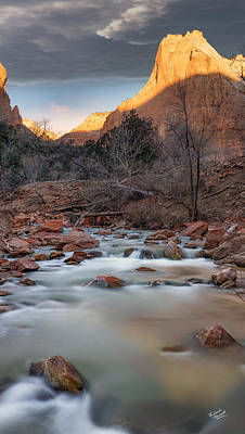 Zion National Park Photograph - Court Of The Patriarchs by Leland D Howard