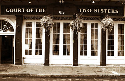 The Two Sisters Photograph - Court Of The Two Sisters by John Rizzuto