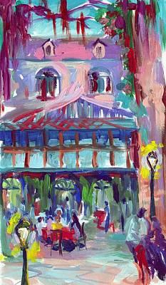 Court Of Two Sisters Art Print by Saundra Bolen Samuel