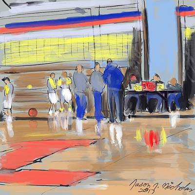 Digital Art - Court Side Conference by Jason Nicholas