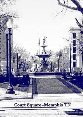 Photograph - Court Square Downtown Memphis Tn by Lizi Beard-Ward