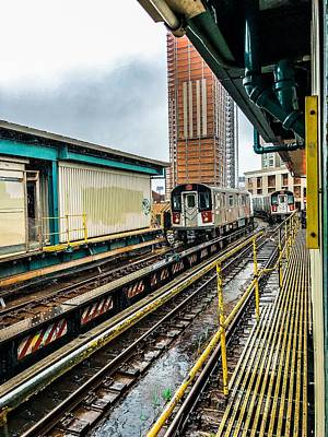 Photograph - Court Square Train Station by Cate Franklyn