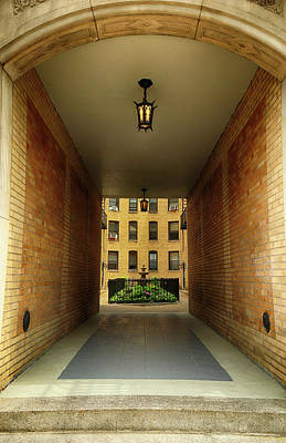 Photograph - Court Yard Tunnel by Cate Franklyn