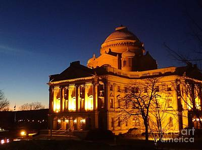 Courthouse At Night Art Print