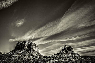 Courthouse Butte And Bell Rock Sedona Arizona Art Print by Roger Passman
