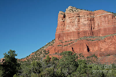 Photograph - Courthouse Butte And Blue Sky 2017 by Maria Janicki