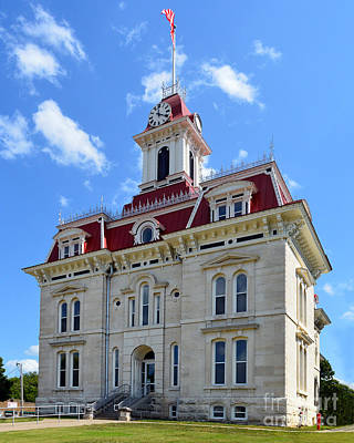 Flint Hills Of Kansas Photograph - Courthouse In Chase County by Catherine Sherman