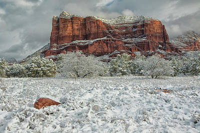 Photograph - Courthouse In Winter by Tom Kelly