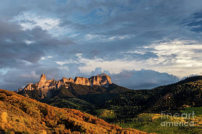 Photograph - Courthouse Mountain And Chimney Rock Fall Colors #2 by Tibor Vari