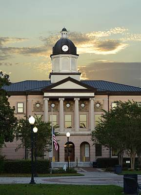 Photograph - Courthouse Of Columbia County In Lake City Florida by rd Erickson