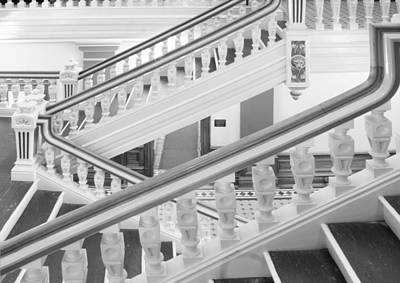 Architecture Photograph - Courthouse Staircase by John Flatz