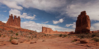 Photograph - Courthouse Towers And The Three Gossips by Alan Vance Ley