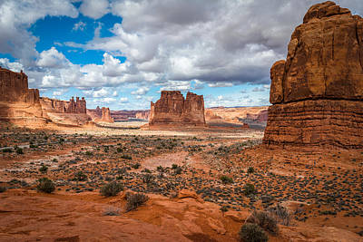 Courthouse Rock Photograph - Courthouse Towers At Arches National Park by James Udall