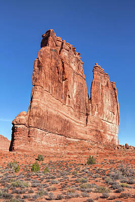 Photograph - Courthouse Towers At Arches National Park by John M Bailey