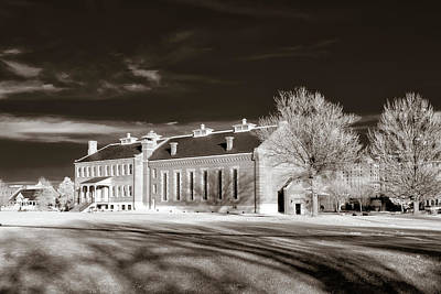 Photograph - Courthouse View Sepia by James Barber