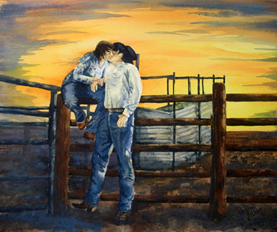 Wall Art - Painting - Courtin' by Cheryl Bishop
