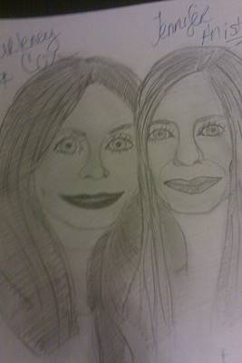 Courtney Cox And Jennifer Ansiton Art Print