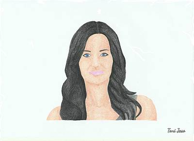 Courtney Cox Art Print