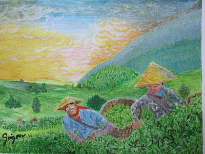 Courtship At The Tea-farm Original by SAIGON De Manila