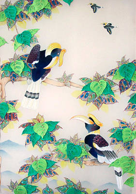 Hornbill Mixed Media - Courtship by Terris Temple